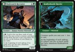 Duskwatch Recruiter // Krallenhorde Howler - Foil