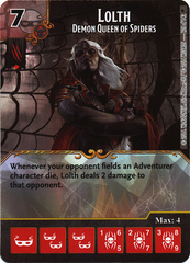 Lolth - Demon Queen of Spiders (Die & Card Combo)