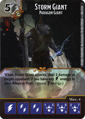 Storm Giant - Paragon Giant (Die & Card Combo)