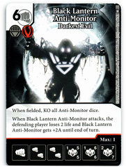 Black Lantern Anti-Monitor - Darkest Evil (Die & Card Combo)