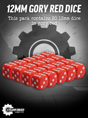12mm Gory Red Dice x20