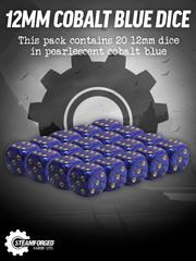 12mm Cobalt Blue Dice x20