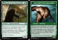Hermit of the Natterknolls // Lone Wolf of the Natterknolls - Foil