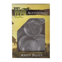 Malifaux: Accessories - Clear Translucent Bases 30mm