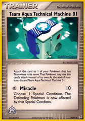 Team Aqua Technical Machine 01 - 79/95 - Uncommon