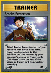 Brock's Protection - 101/132 - Rare - 1st Edition