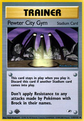 Pewter City Gym - 115/132 - Uncommon - 1st Edition