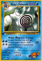Misty's Poliwrath - 31/132 - Rare - 1st Edition