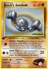 Brock's Geodude - 66/132 - Common - 1st Edition