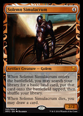 Solemn Simulacrum (Masterpiece Foil) on Channel Fireball