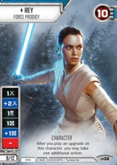 Rey - Force Prodigy (Full Art) (Sold with matching Die)