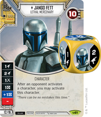 Jango Fett - Lethal Mercenary (Sold with matching Die)