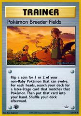 Pokemon Breeder Fields - 62/64 - Uncommon - 1st Edition