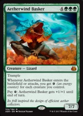 Aetherwind Basker - Foil on Channel Fireball