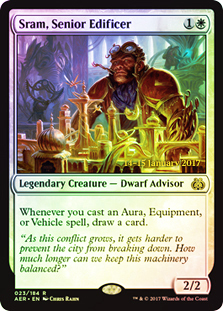 Sram, Senior Edificer (Aether Revolt Prerelease Foil)