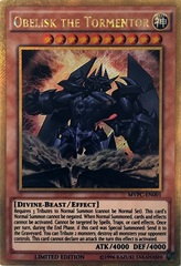 Obelisk The Tormentor - MVPC-EN001 - Gold Secret Rare - Dark Side Of Dimensions Movie Promo on Channel Fireball