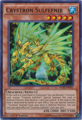 Crystron Sulfefnir - RATE-EN021 - Super Rare - 1st Edition on Channel Fireball
