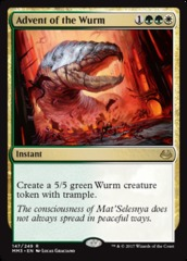Advent of the Wurm - Foil on Channel Fireball