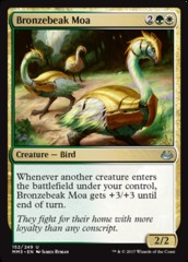 Bronzebeak Moa - Foil on Channel Fireball