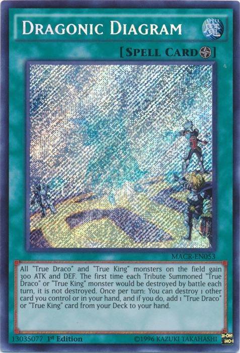 Dragonic Diagram - Macr-en053 - Secret Rare