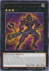 D/D/D Stone King Darius - MACR-EN045 - Rare - Unlimited Edition