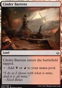 Cinder Barrens - Planeswalker Deck Exclusive