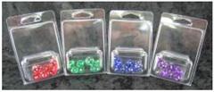 7Ct Set Translucent Mini-Polyhedral Green/White (CHX23055)