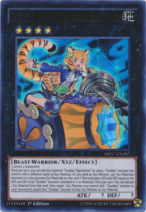 Zoodiac Tigermortar - MP17-EN207 - Ultra Rare - 1st Edition
