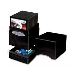 Ultra Pro Hi-Gloss Satin Deck Case Tower Midnight