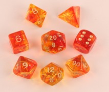 Firefly Red Polyhedral Dice Set (7)