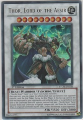 Thor, Lord of the Aesir - STOR-EN038 - Ultra Rare - 1st Edition