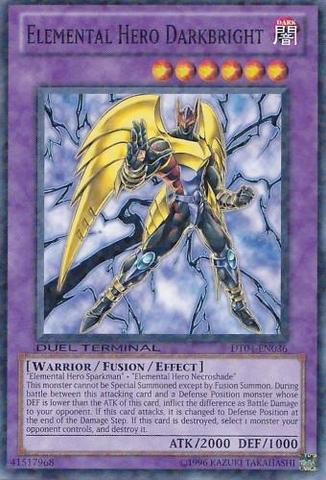Elemental Hero Darkbright - DT04-EN036 - Parallel Rare - Duel Terminal
