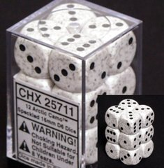 12 Arctic Camo Speckled 16mm D6 Dice Block - CHX25711