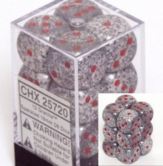 12 Granite Speckled 16mm D6 Dice Block - CHX25720