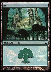 Forest - Gruul Clans Foil MPS Promo on Channel Fireball
