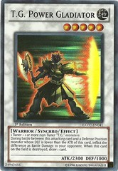 T.G. Power Gladiator - EXVC-EN041 - Super Rare - 1st Edition