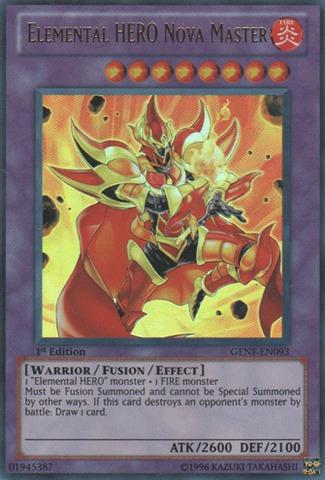 Elemental HERO Nova Master - GENF-EN093 - Ultra Rare - 1st Edition
