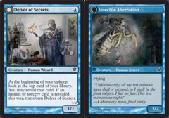 Delver of Secrets // Insectile Aberration