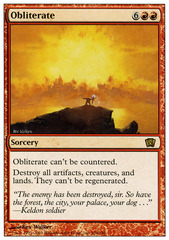 Obliterate - Foil on Channel Fireball