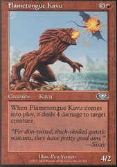 Flametongue Kavu - Foil on Channel Fireball