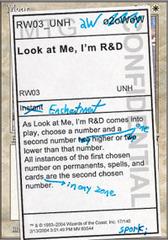 Look at Me, I'm R&D - Foil