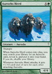 Aurochs Herd - Foil on Channel Fireball