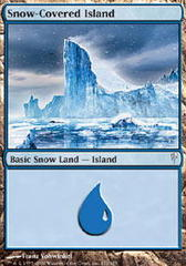 Snow-Covered Island - Foil on Channel Fireball