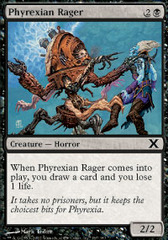 Phyrexian Rager - Foil on Ideal808