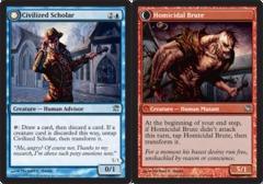 Civilized Scholar // Homicidal Brute - Foil