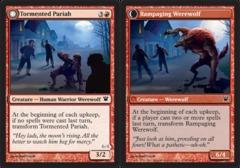 Tormented Pariah // Rampaging Werewolf - Foil