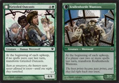 Grizzled Outcasts // Krallenhorde Wantons - Foil