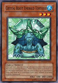 Crystal Beast Emerald Tortoise - DP07-EN003 - Common - Unlimited Edition