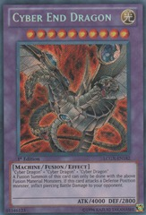 Cyber End Dragon - LCGX-EN182 - Secret Rare - 1st Edition