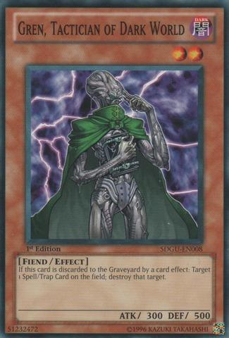 Gren, Tactician of Dark World - SDGU-EN008 - Common - 1st Edition